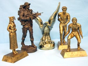 Just a few of the trophy toppers we offer